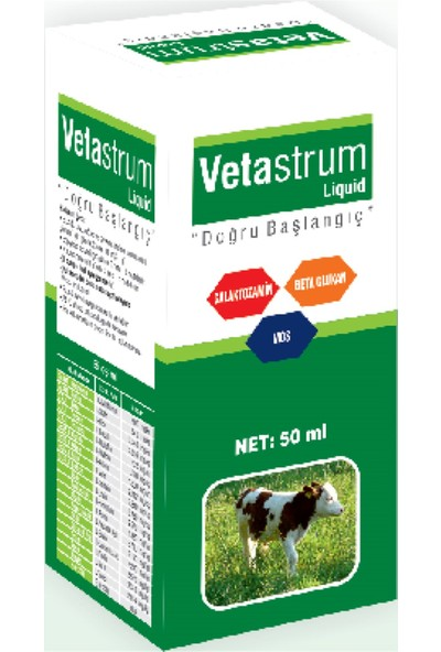 Reva Vetasupra Vetastrum Likit Bağışıklık Sistemi Güçlendirici Stres Azaltıcı Hayvan Yem Katkı Premix 50 gr Plastik Şişe