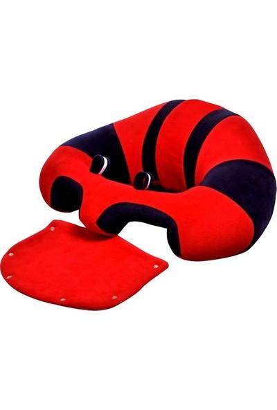 Deniz Baby Bebe Yatmaz Bebek Minderi Kırmızı Lacivert