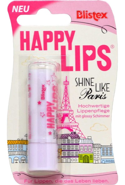 Blistex Happy Lips Shine Like Paris Dudak Parlatıcı 3,7 G
