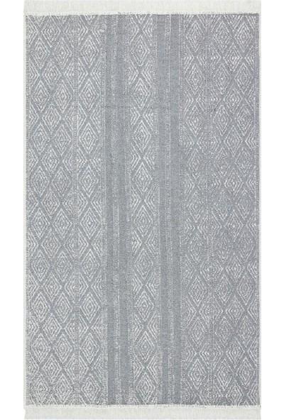 Eko Halı Arya Ar 01 Grey Gri Yıkanabilir Pamuk Çift Taraflı Kilim 160 x 230 cm