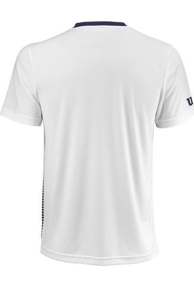 Wilson Team Striped Crew Lacivert Erkek T-Shirt WRA769703