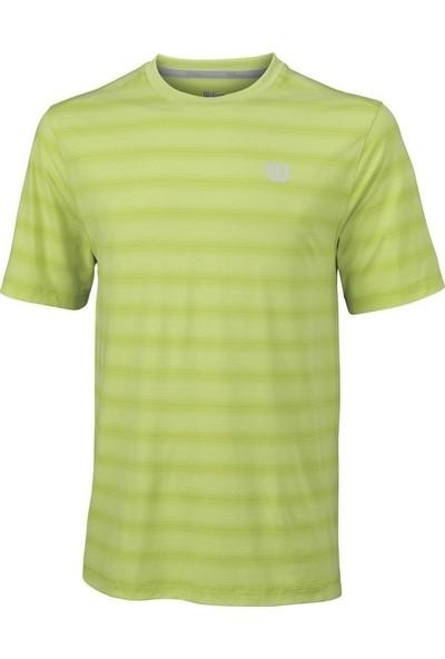 Wilson M Star Blur Crew Yeşil Erkek Tenis T-Shirt