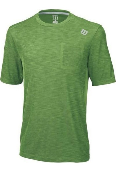 Wilson M Star Textured Crew Yeşil Erkek T-Shirt