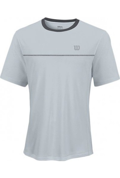 Wilson Export Crew Gri Erkek Tenis T-Shirt WRA747304