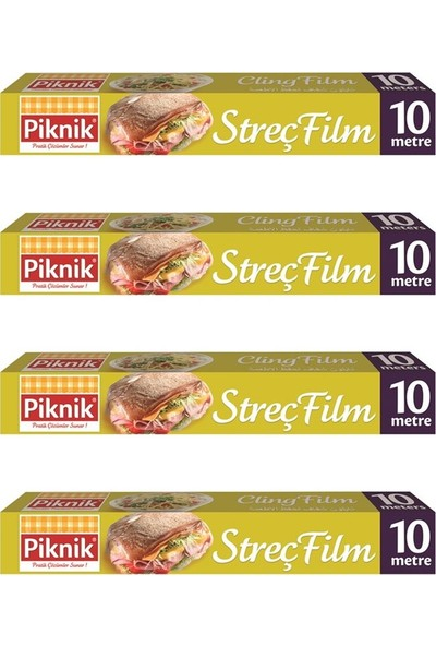 Piknik Gıda Ambalaj Streç Film 10 mt 4'lü