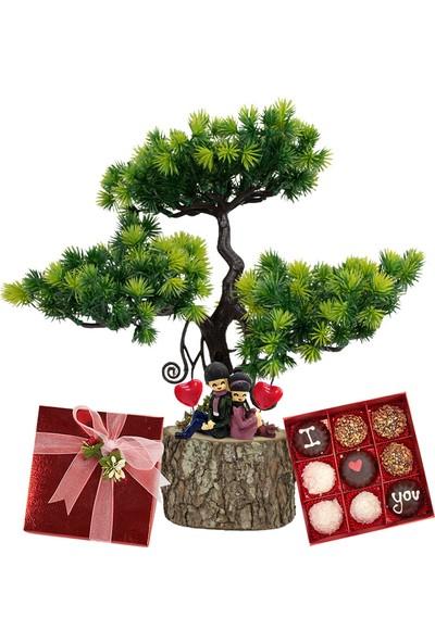 Lezzetliçiçek Treelove Minibahçe Sevgiliye Teraryum