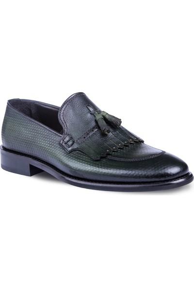 Tigana Erkek Paolo Haki Nubuk Deri Klasik Ayakkabı