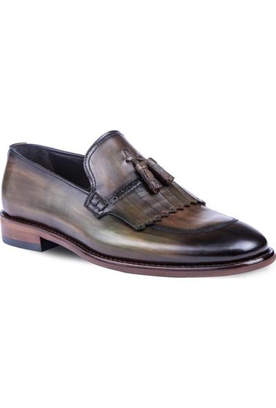 Tigana Erkek Paolo Olive Nubuk Deri Klasik Ayakkabı