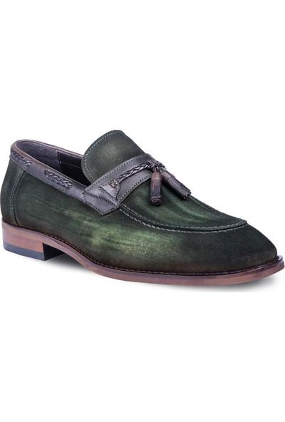 Tigana Erkek Ryan Haki Süet Klasik Ayakkabı