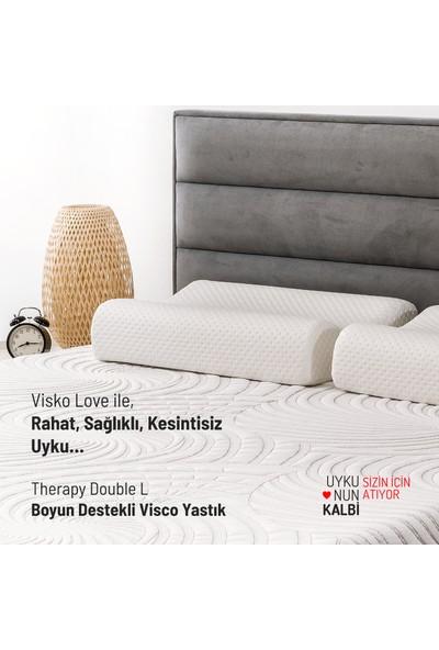 Visko Love Therapy Double-L, Boyun Destekli Visco Yastık