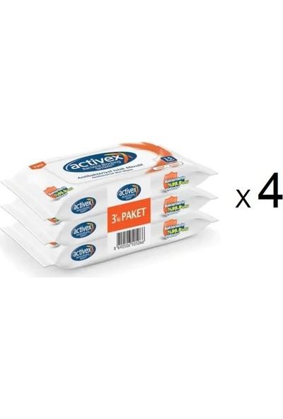 Activex Islak Mendil 15 x 3 Paket 4'lü