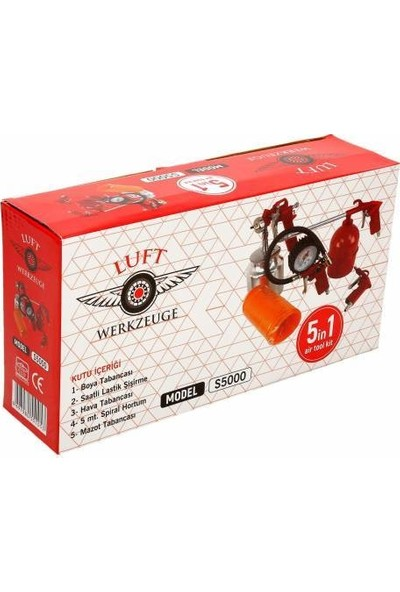 Luft Werkzeuge Havalı Alet Seti 5'li
