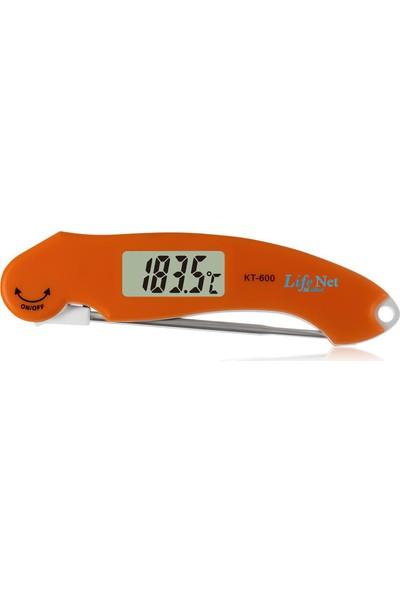 Life Net Medikal KT-600 Dijital Yemek Gıda Mutfak Termometre Sıcaklık Ölçer