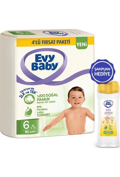 Evy Baby Bebek Bezi 6 Beden XL 80 Adet - Şampuan