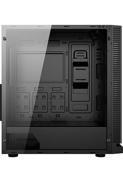 Rampage Falcon-X Siyah USB3.0 4xRGB Fan Temperli Cam Oyuncu Kasa