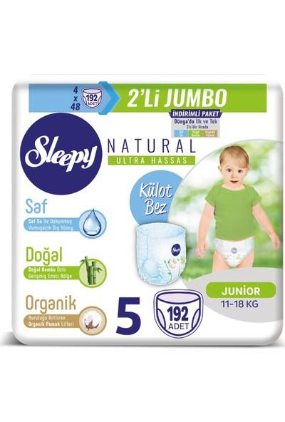 Sleepy Külot Bebek Bezi 5 Beden Junıor 48'Li X 4 Paket 192 Adet Bez 11 - 18 kg