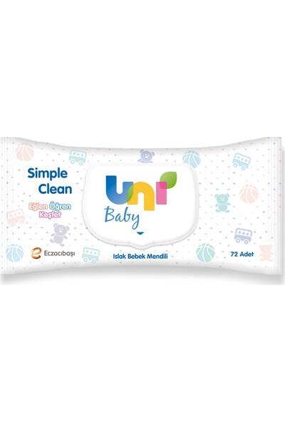 Uni Baby Simple Clean Islak Havlu Mendil 72'li 24 Paket - 1728 Yaprak