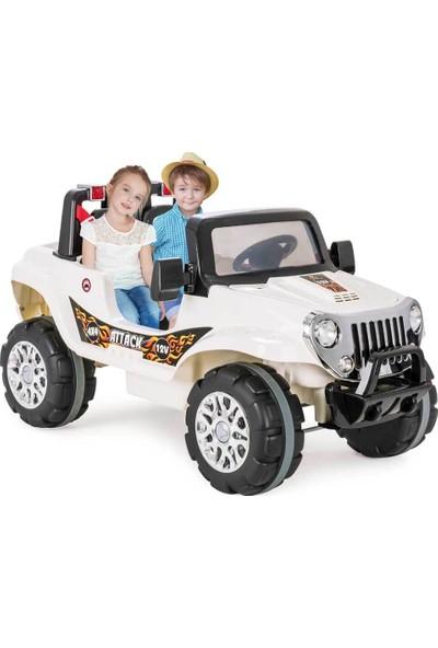 Pilsan Attack Çift Kişilik Uzaktan Kumandalı 12V Akülü Araba Beyaz 05-272