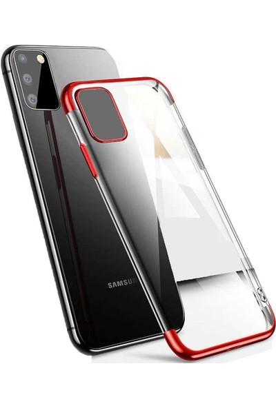 Gpack Samsung Galaxy S10 Lite Kılıf Colored Silicone Yumuşak Kırmızı