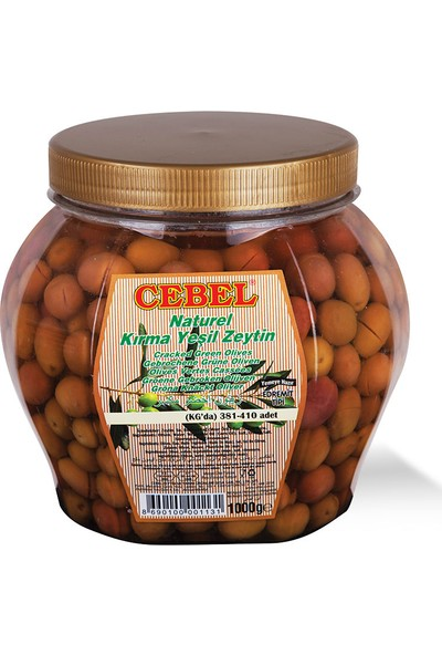 Cebel Kırma Yeşil Zeytin 1000 gr Pet