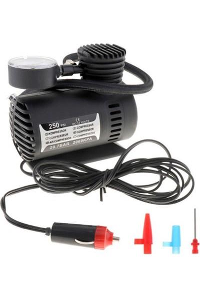 Zabata Oto Araç Lastik Şişirme Pompası Hava Kompresörü Seti 250 Psı 12V