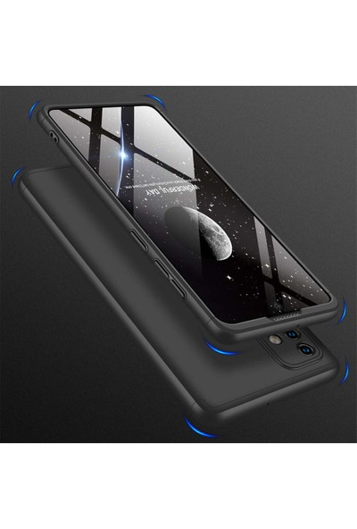 Kilifve Samsung Galaxy A51 3 Parçalı Ince 360 Rubber Kapak - Siyah