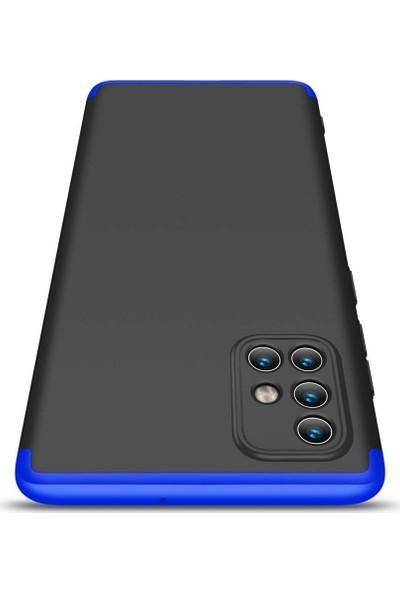 Kilifve Samsung Galaxy A51 3 Parçalı Ince 360 Rubber Kapak