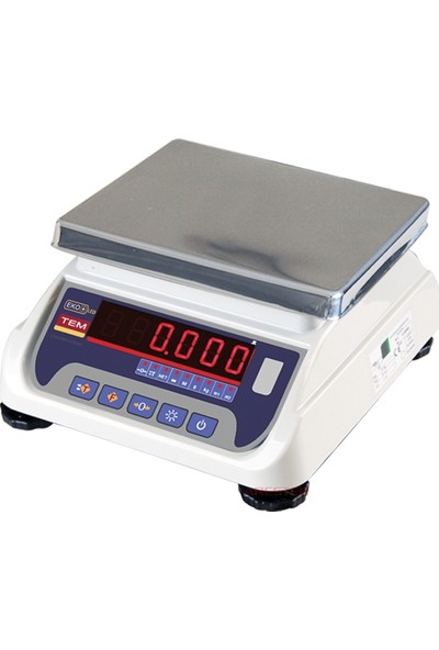 Tem Eko+Led Paslanmaz Kefe Tartım Terazisi 6 kg - 1 gr