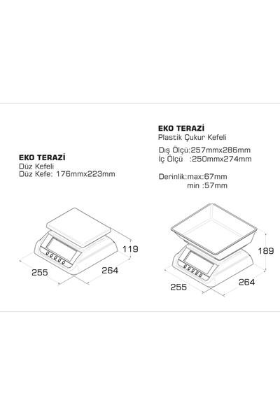 Tem Eko+Led Tartım Terazisi 30 kg - 5 gr