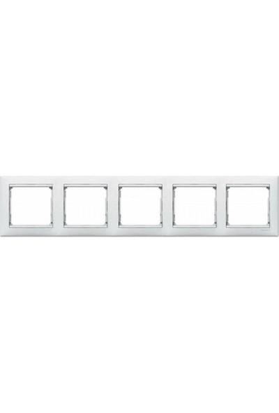Legrand Valena Beşli Yatay Çerçeve Beyaz