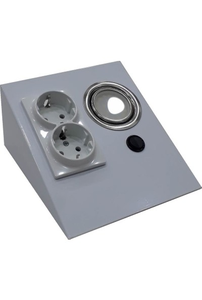 Espar EPS150-2PL3 Tezgah Altı Üçgen Spot Beyaz 6500K + 2'li Priz