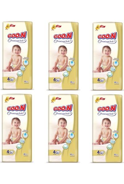 Goon Soft Bebek Bezi 4 Beden Süper Paket 204'lü