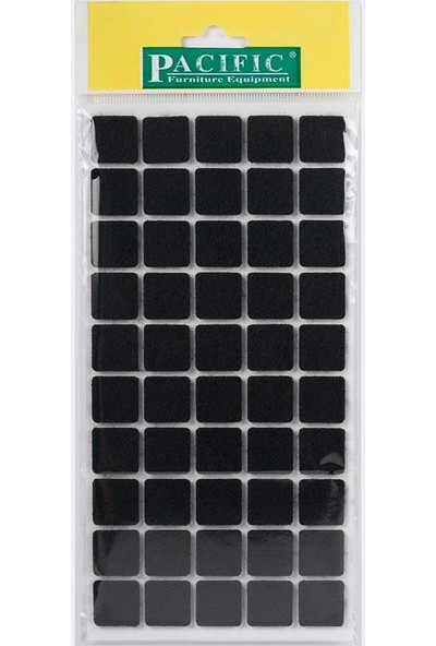 Pacific Masa Sandalye Keçe Siyah 20 x 20 mm