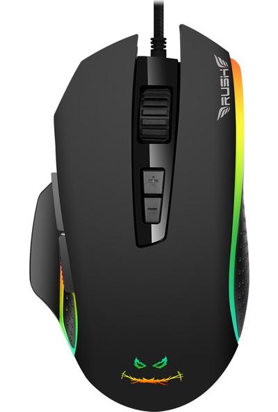 Rush Fıghter RM42 12800 Dpı RGB Makro Oyuncu Mouse