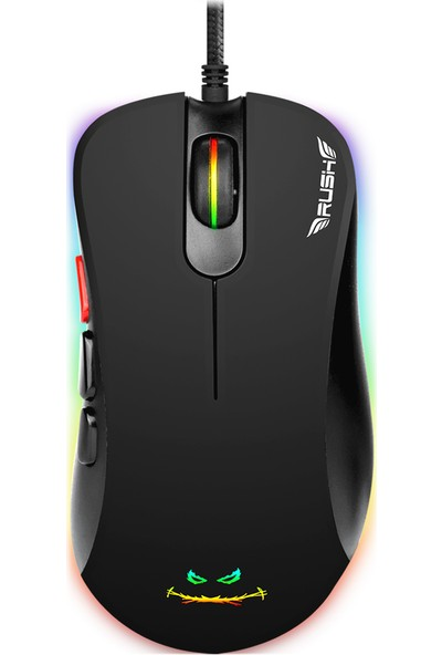Rush Archer RM48 12800 Dpı RGB Makro Oyuncu Mouse