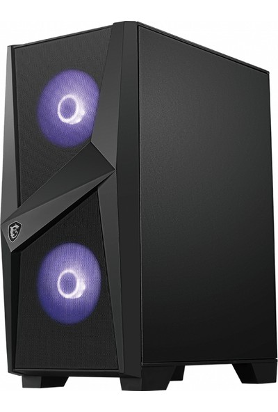 MSI MAG Forge 100M Temperli Cam 2x RGB Fan 120mm Fan ATX Oyuncu Bilgisayar Kasası