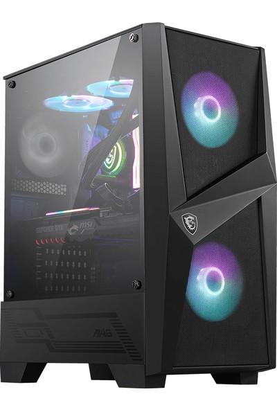 MSI MAG Forge 100R Temperli Cam 2x A-RGB Fan 120mm Fan ATX Oyuncu Bilgisayar Kasası
