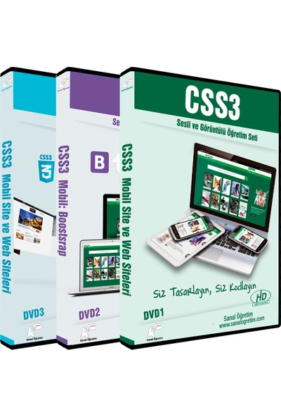 Sanal Öğretim Css3 ve Bootstrap Video Eğitim Seti