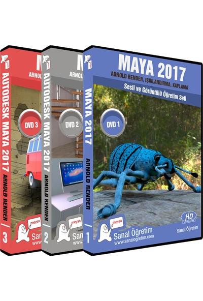 Sanal Öğretim Maya 2017 Arnold Render Işıklandırma Kaplama Video Eğitim Seti