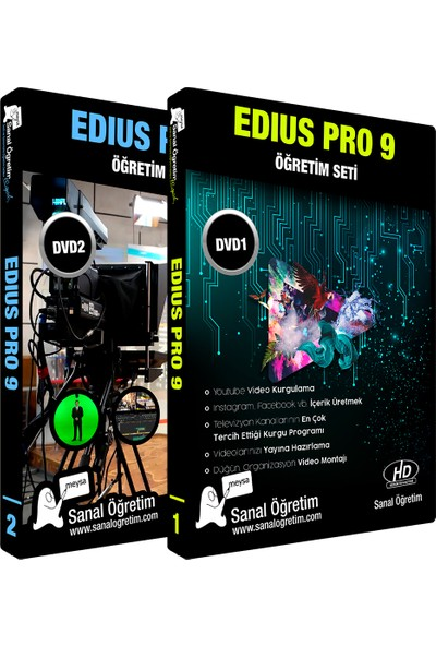 Sanal Öğretim Edius Pro 9 Video Eğitim Seti