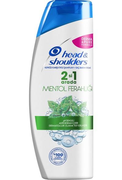 Head & Shoulders 2'si 1 Arada Şampuan Mentol Ferahlığı 400 ml 2 Adet