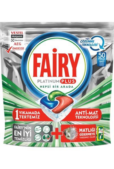 Fairy Platinum Plus 50 Yıkama Bulaşık Makinesi Deterjanı Kapsülü Hızlı Çözünme