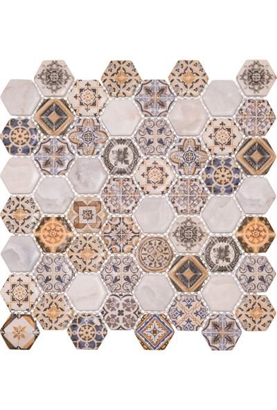 Mossaıca Dijital Baskılı Altıgen Mozaik FBDJ050