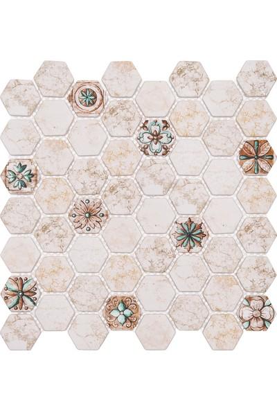 Mossaıca Dijital Baskılı Altıgen Mozaik FBDJ072
