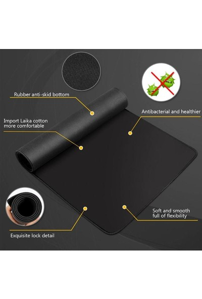 Appa SRF-888 Düz Oyuncu Mouse Pad 32x24cm Siyah