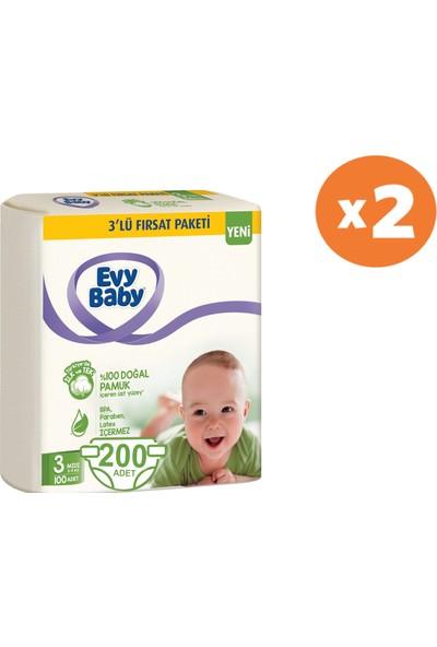 Evy Baby Bebek Bezi 3 Beden Midi 5-9 kg x 2 Adet