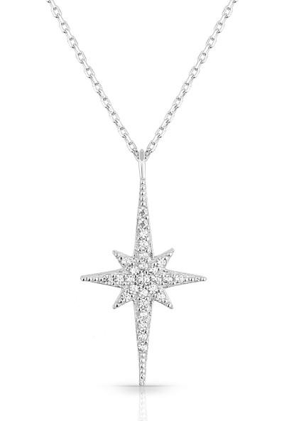 Azuris 925 Ayar Gümüş Kuzey Yıldızı Kolye