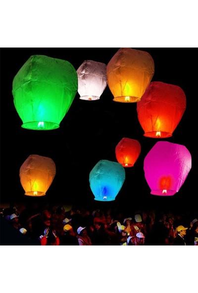 Binbirreyon Dilek Feneri 10'lu Dilek Balonu Gece Gökyüzü TA003