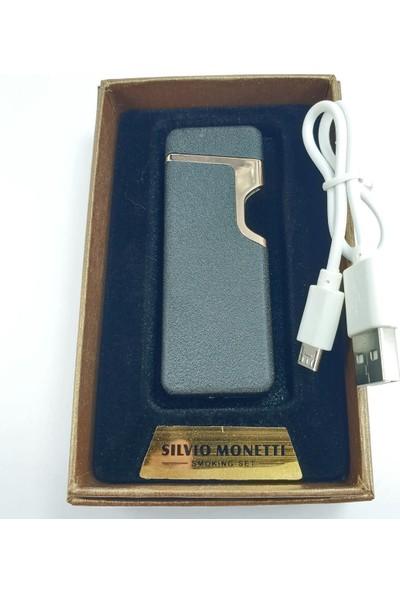 Silvio Monetti Sm 037-MS USB Şarjlı Elektronik Elektrikli Çakmak