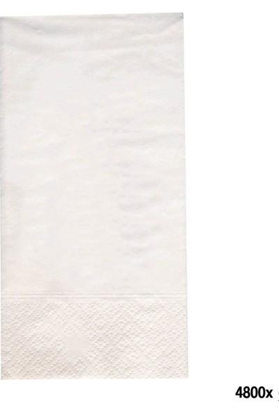 Beyaz Peçete 25 x 25 Garson Katlama 4800'lü Koli